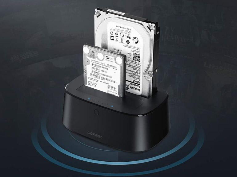 Bon plan : une station d'accueil USB pour 2 disques durs ou ssd à 28,04€