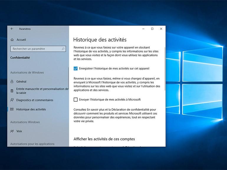 Historique d'activités Windows 10 : Microsoft explique pourquoi il reste des données en ligne