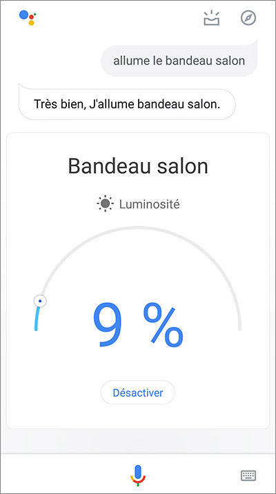 Commande vocale Google Home