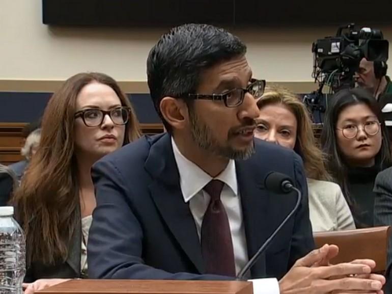 Google : ce qu'a dit son P-DG Sundar Pichai au Congrès américain à propos de la Chine