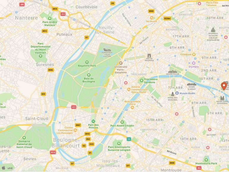 Le moteur de recherche DuckDuckGo fait appel aux cartes Apple Plans