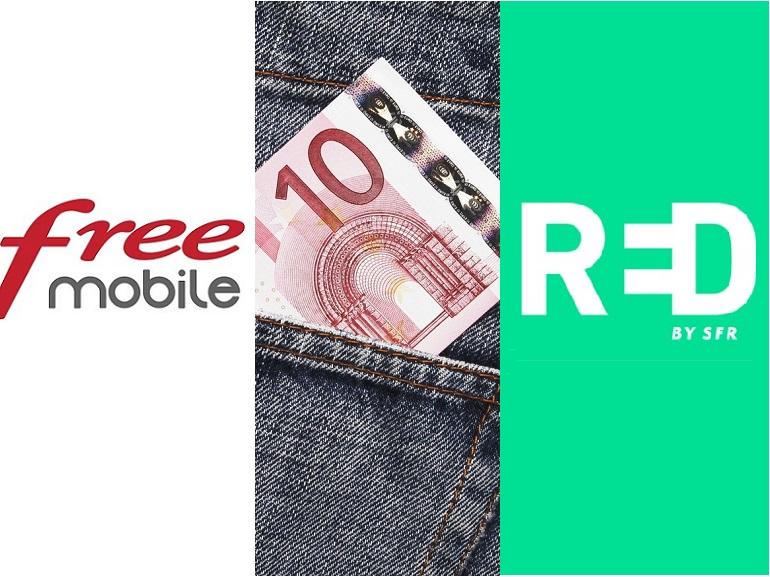 RED by SFR ou Free Mobile : on refait le match du meilleur forfait mobile à 10€