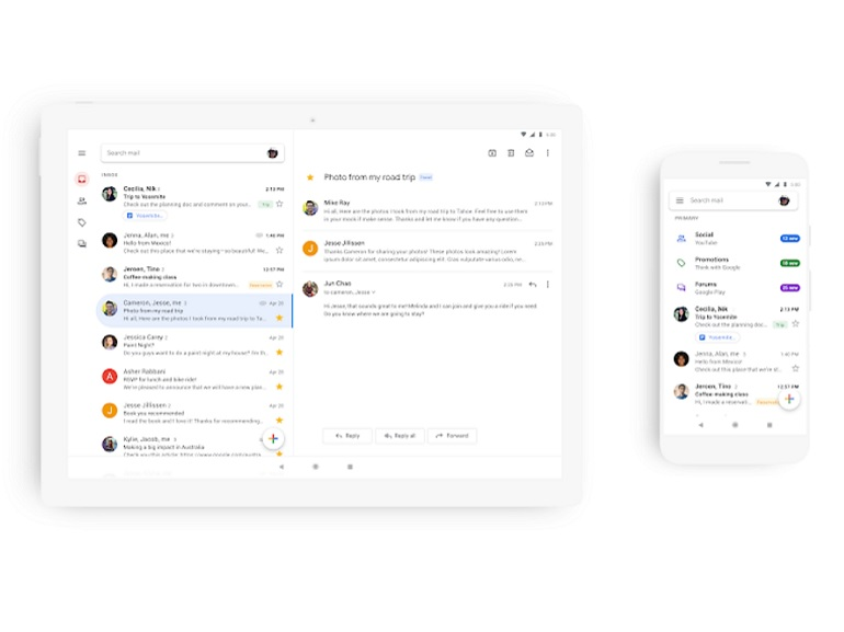 L'application Gmail va adopter le Material Theming