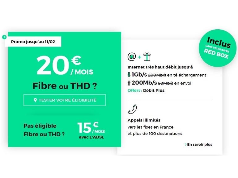 RED by SFR : la box Internet fibre 1 Gb/s est à 20 euros jusqu'à ce soir