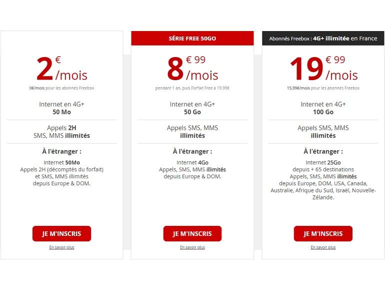 Free Mobile prolonge son forfait 50 Go à 8,99 euros