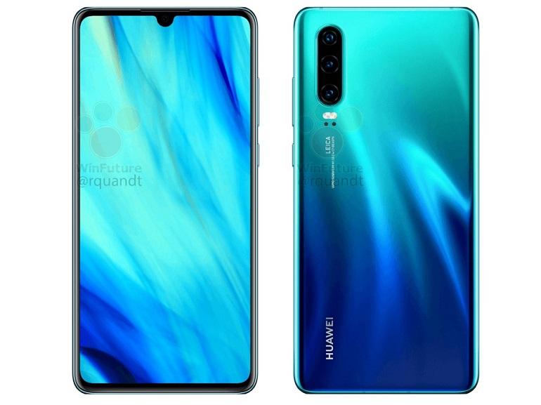 Huawei P30 et P30 Pro : de nouvelles images confirment le design et certaines caractéristiques