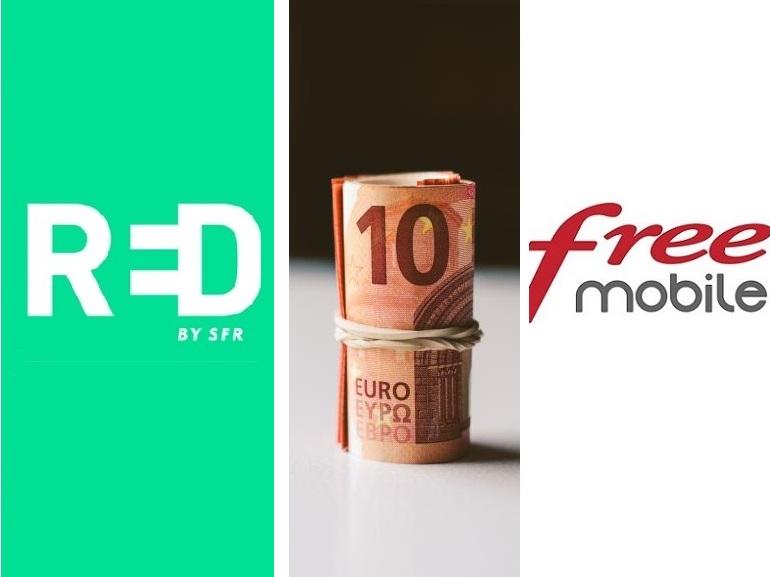 Forfait mobile à 10 euros : RED by SFR ou Free Mobile, lequel choisir avant lundi ?