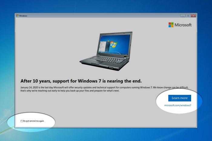 Notification Windows 7