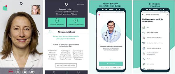Consultation via appli