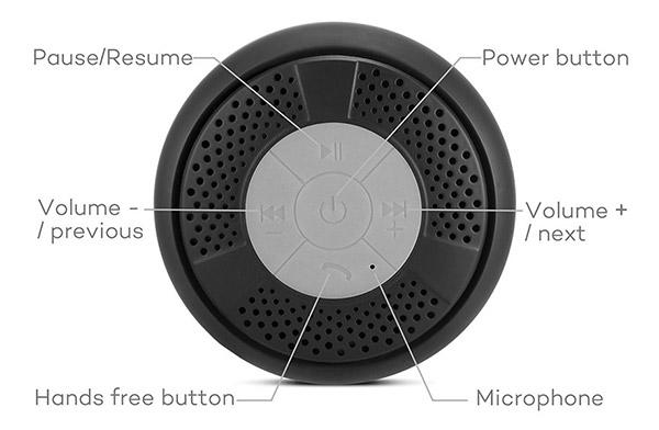 Enceinte Bluetooth pour la douche