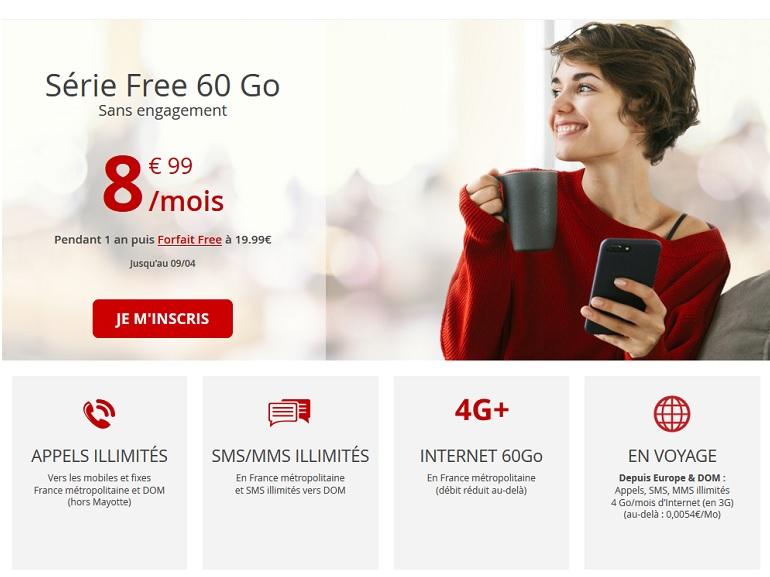 Free Mobile relance son forfait mobile 60 Go à 8,99€