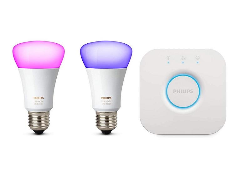 Bon plan : kit ampoules connectées Philips HUE + pont de connexion à 79€ au lieu de 149