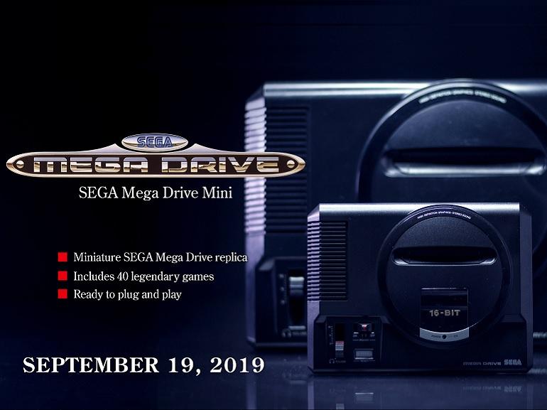 La Sega Mega Drive Mini sera disponible le 19 septembre, avec un an de retard