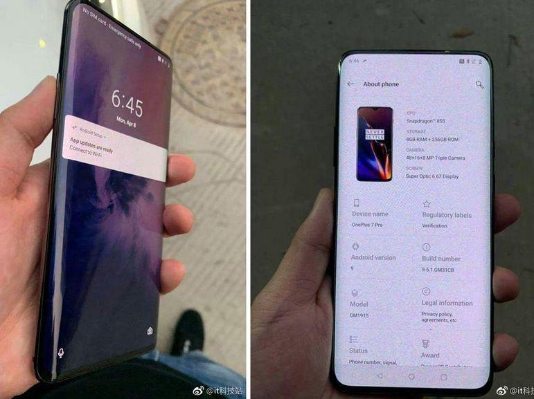 OnePlus 7 Pro : un écran à bords incurvés façon Samsung ?
