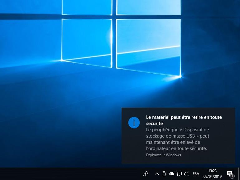 Windows 10 : éjecter les clés USB n'est plus obligatoire depuis la version 1809
