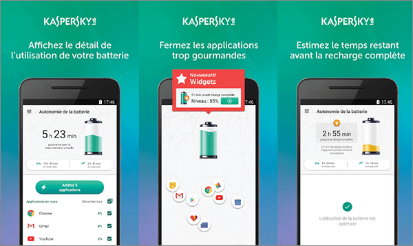 Kaspersky Battery life