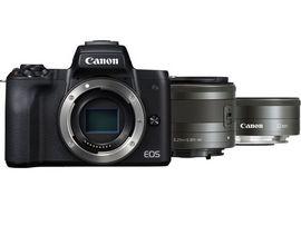 Canon : l'hybride EOS M50 avec deux optiques (15-45 et 22 mm) à 680 euros !