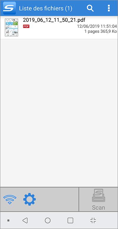 Liste des documents numérises