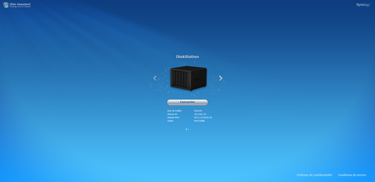 Synology DSM installation DS1019+