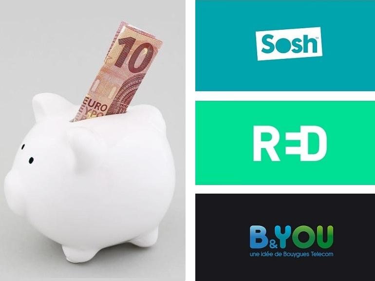 B&You, RED by SFR ou Sosh : quel est le meilleur forfait à 10€ actuellement ?