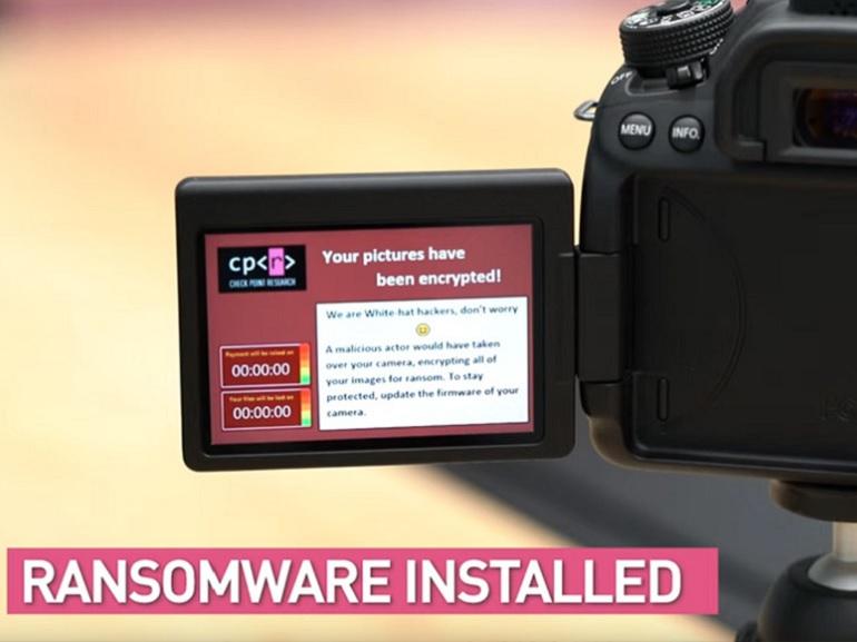 Les appareils photo numériques peuvent aussi être infectés par des ransomwares