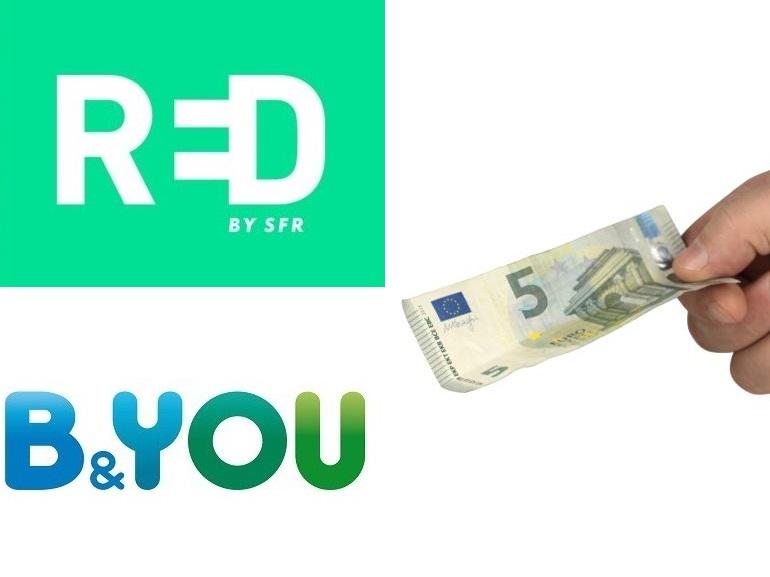 RED by SFR ou B&You : quel forfait mobile 5 Go à 5 € choisir avant demain ?