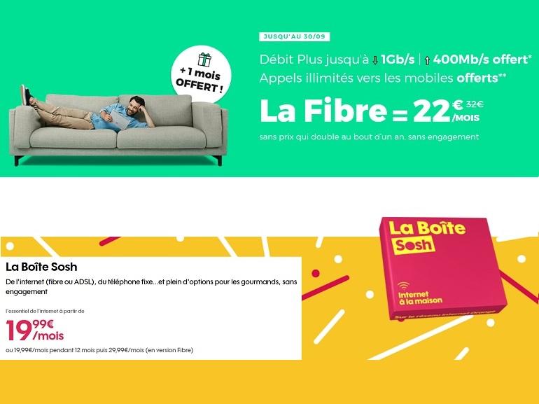 Sosh vs. RED by SFR : quel abonnement Internet fibre choisir avant lundi ?