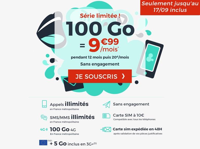 Le forfait mobile 100 Go de Cdiscount passe à 10 euros au lieu de 20