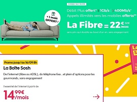 Sosh ou RED by SFR : quel bon plan fibre choisir ?