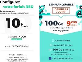 RED by SFR ou Cdiscount Mobile : quel forfait à 10 euros choisir avant demain ?
