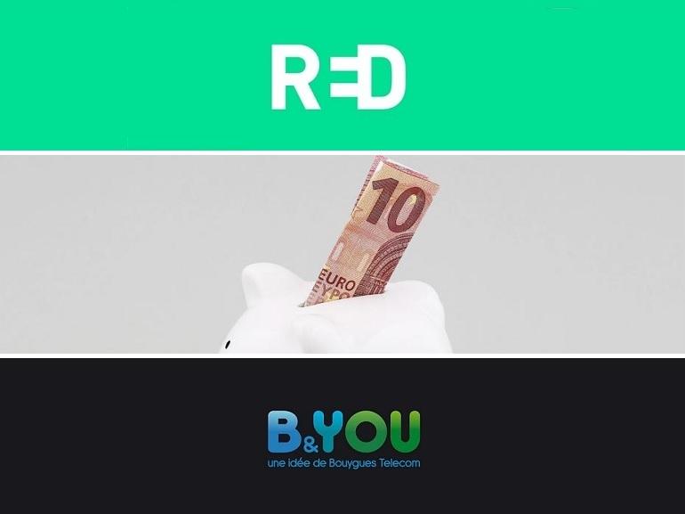 RED by SFR ou B&You : quel forfait mobile 40 Go à 10 euros choisir ?