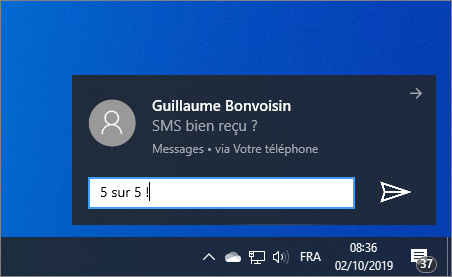 Notification Android sur PC