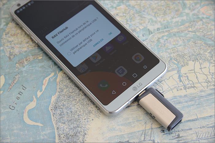 Clé USB sur smartphone
