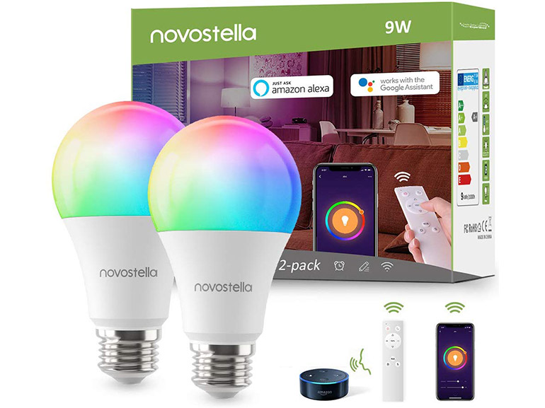 Bon plan : 2 ampoules connectées à LED multi-couleurs à 27,99€