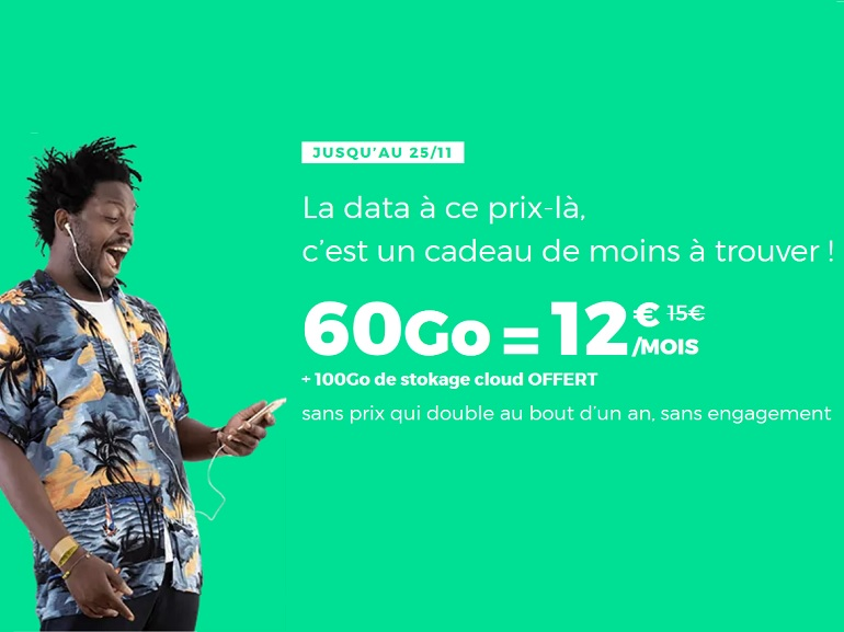 Forfait mobile : RED BY SFR prolonge (encore) son forfait 60 Go à 12 euros