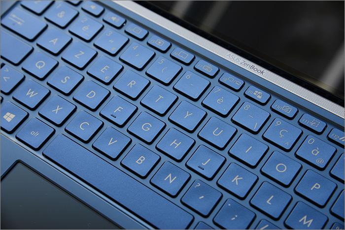Gros plan sur le clavier