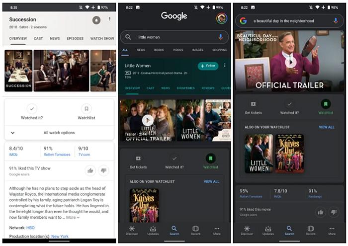 Watchlist google
