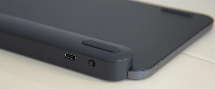 Port USB-C et interrupteur