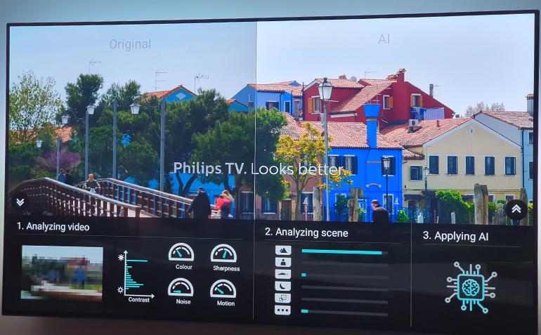 Comment l'IA embarquée dans les téléviseurs Philips OLED805 et 855 améliore l'image en direct.