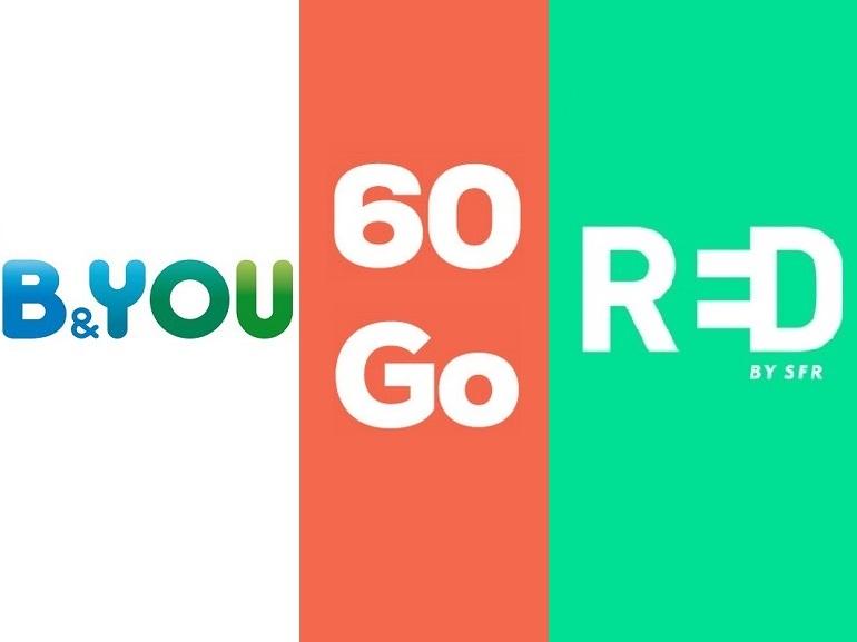 Forfait sans engagement : RED by SFR et B&You renouvellent leurs offres 60 Go, laquelle est la meilleure ?