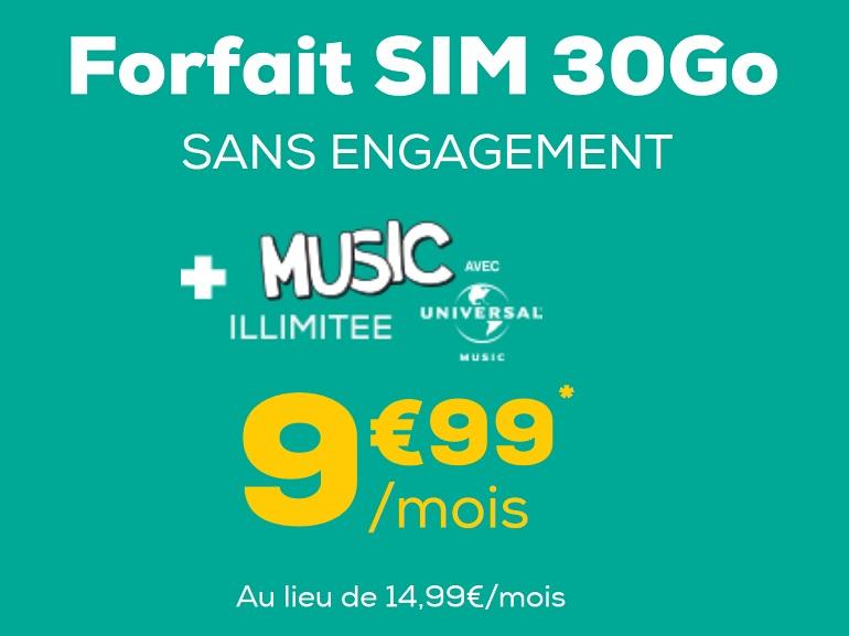 Forfait mobile : à moins de 10€, l'offre 30 Go de La Poste Mobile demeure la meilleure - CNET France