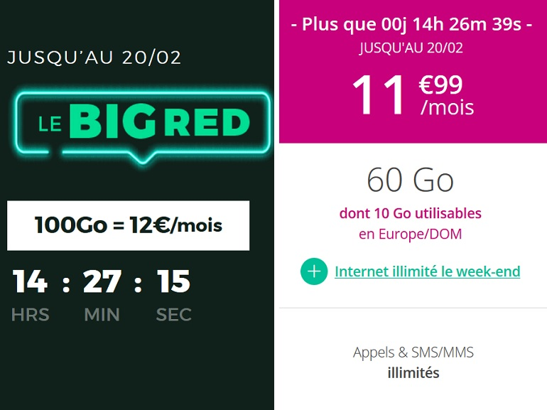 Forfait mobile : RED by SFR ou B&You, quelle offre