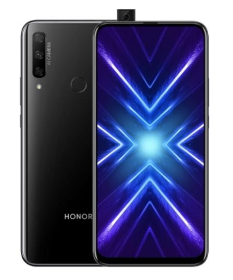 Le smartphone Honor 9X vu de face et de dos