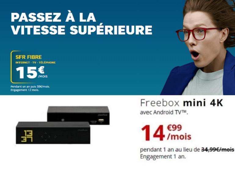 SFR Starter ou Freebox mini 4K de Free : le match des forfaits internet fibre à moins de 15 euros - CNET France
