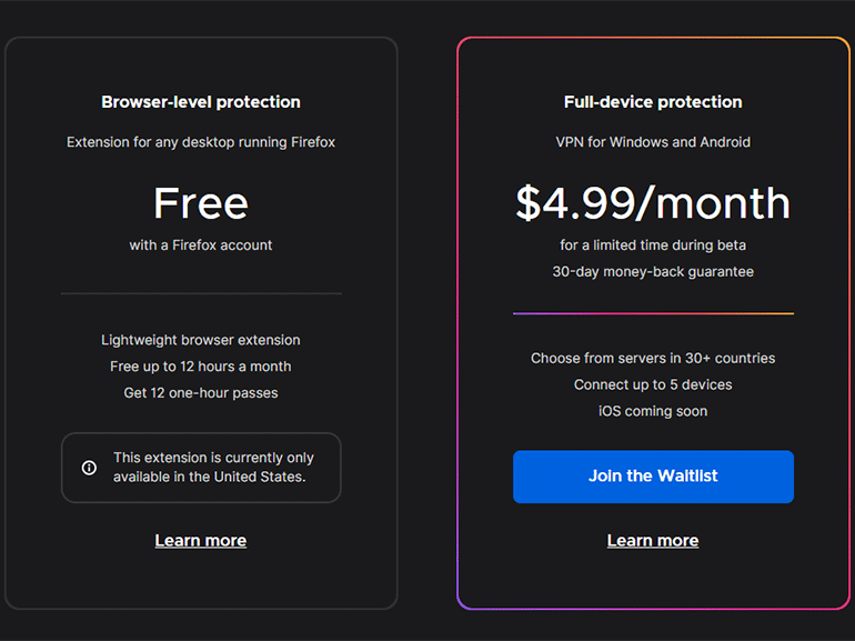 Mozilla lance un vrai VPN Firefox Private Network en complément de son extension - CNET France