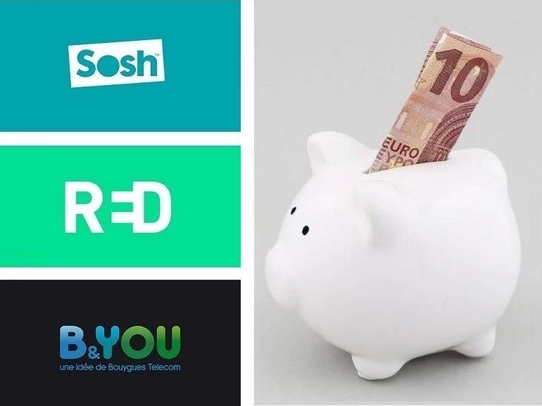 Sosh, RED by SFR ou B&You : on refait le match du meilleur forfait à 15 euros - CNET France