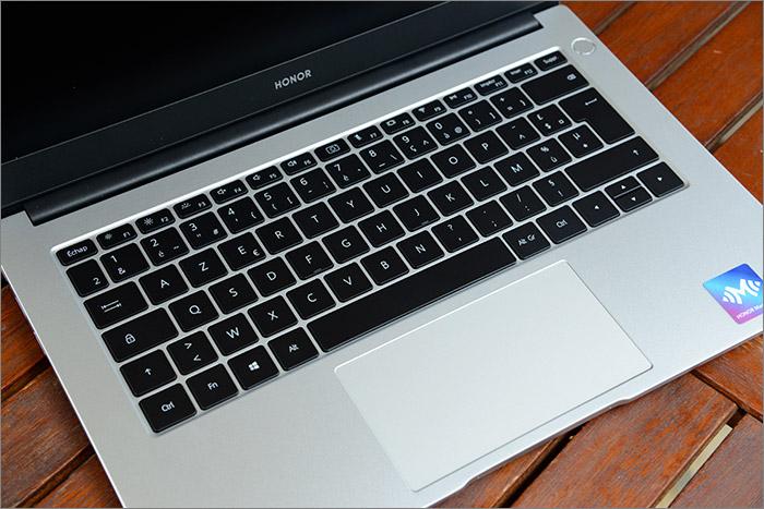 Vue sur le clavier