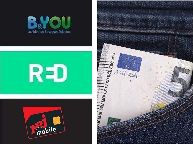 Forfaits mobiles 60 Go à partir de 4,99€ : le match entre B&You, RED et NRJ Mobile