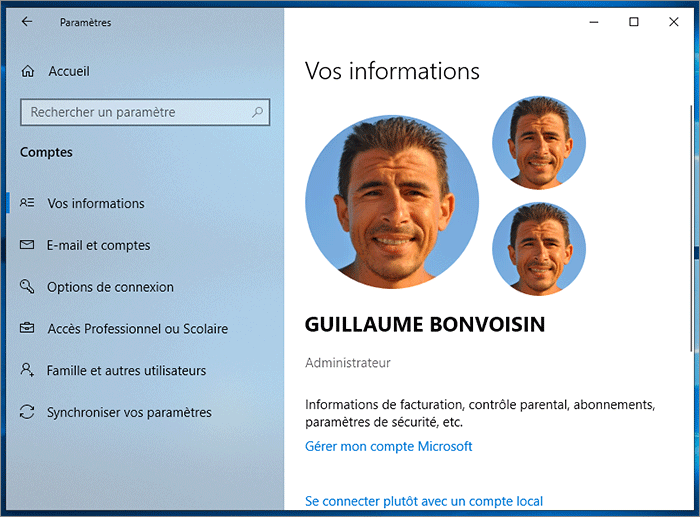 Profil Windows
