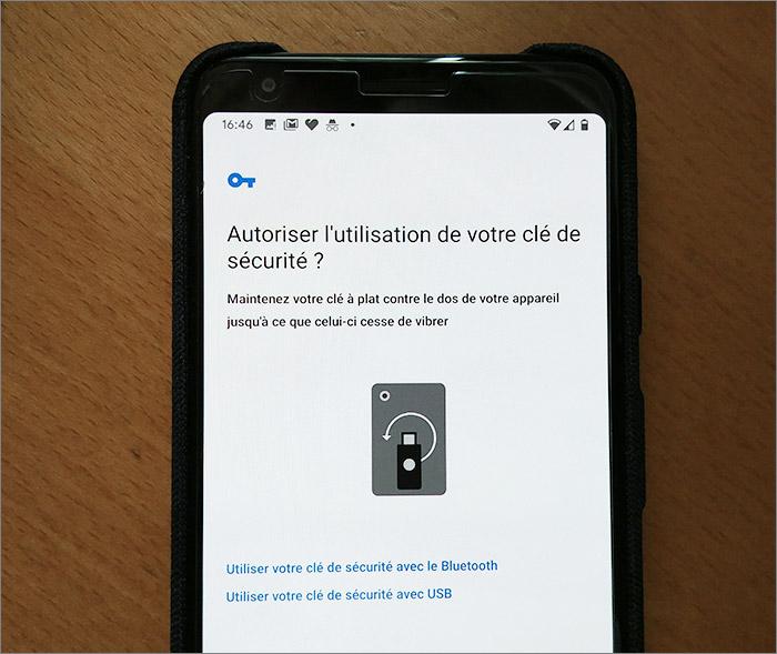 Authentification sur smartphone